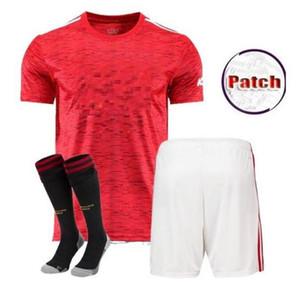 man kids kit 2020 2021 manchester RASHFORD B. FERNANDES POGBA soccer jerseys MARTIAL football jersey shirts united 20 21 UTD uniforms
