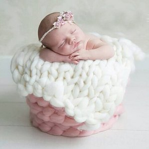 Photography props Prop newborn handmade knitted wool baby Photography props Prop newborn handmade knitted wool blanket baby blanket