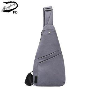 Fengdong erkekler küçük göğüs yastığı kadınlar için ultra ince spor çanta, mini crossbody çanta su geçirmez seyahat sapan erkek haberci
