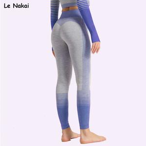 Le Nakai Seamless Leggings esporte da aptidão Mulheres cintura alta Esporte Ginásio Leggings Push Up Yoga Pants Inverno roupa da aptidão Y200710
