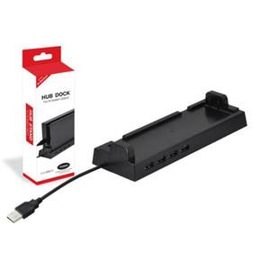 Dobe Schalter 4-Port USB-Hub Vertical Stand Dock für Nintendo-Switch-Konsole Freien Verschiffen