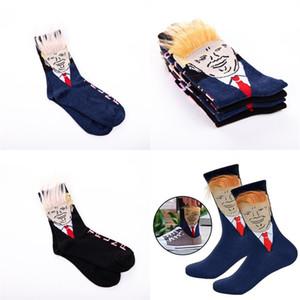 Trump Yellow Hairs Socks Cartoons Soprt Basketball Sock Streetwears With Comb Stockings Gift Comfortable Soft Hot Sale 5fs E2