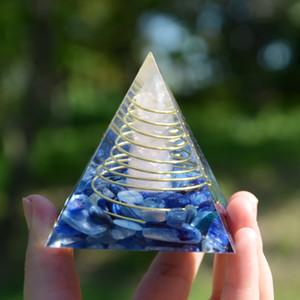 Kyanit Kristal Bankası Orgone Piramit, Reiki Şifa Chakra Meditasyon Aracı ile Orgone Pyramid orgonite kolye Rose Kuvars Pillar