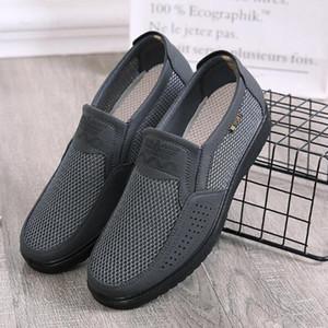 Vieruodis Hommes confortables Chaussures Casual Maille respirante Été Chaussures Hommes 2020 Nouvelle antidérapante légère chaussures de sport pour Big Taille