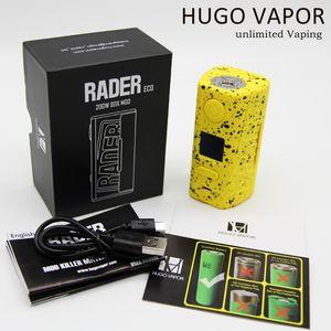 Hugo Vapor Rader Eco 200W Mod Powered by Dual 18650 Batteries OLED Screen vape mod box 510 thread fit vaporizer diy rda tank