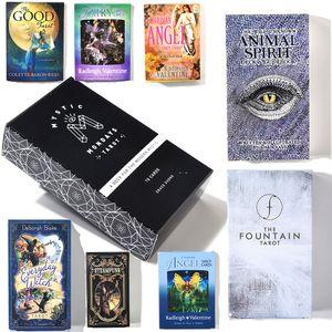 Creative destin mystérieux Conseil English Tarot Jeu Set Oracle Card Game Family Holiday Party jouets éducatifs pour enfants