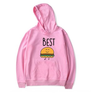 Friends chips Best hamburger letter pattern printed with hat and velvet for men hoodie hat hoodie and women