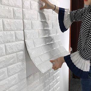 Self Adhensive 3D Brick Wall Stickers Room Decor Foam Waterproof Covering Wallpaper TV Background
