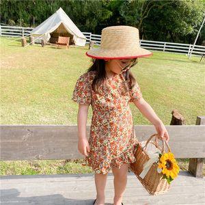2020 Summer New Arrival Girls Fashion Flroal Dress Kids Princess Fishtail Dresses Princess Dress