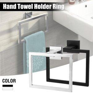 Xueqin 304 Paslanmaz Çelik Kare Havlu Halka Tutucu Banyo Duvar Askı ACC121 için Towel Rack Monteli
