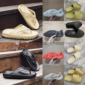 Stock X Adidas Yeezy 2020 Foam Runner Sandale Kanye Slides Mode pantoufle Designer Slides Knochen Desert Sand Black Earth Harz Mens-Frauen-Slipper