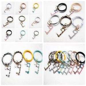 Art und Weise keychain Armband Acryl Non-Kontakt-Tür-Öffner-Touch Key Haken Türgriff Key Aufzug Werkzeug-Party Favor Supplies RRA3351
