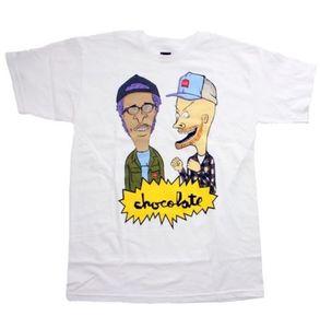Chocolate Skates Jerry Mj Beavis Butthead Estilo T dos desenhos animados Camiseta Homens Moda de Nova Unisex T-shirt solto