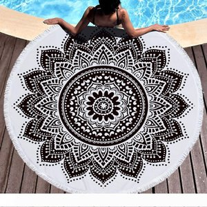 Bohemian Mandala Tapestry Beach Throw Large Round Beach Towel Picnic Blanket Mat Pool Tapestry Decoration Yoga Mat