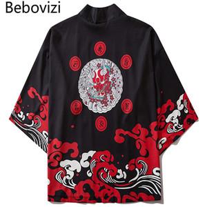 montón de Asia Islas del Pacífico Ropa Bebovizi Harajuku 2.020 hombres japoneses fino kimono tradicional Streetwear Cardigan Samurai Yukata masculino ...