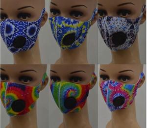 Masques Designer Masque visage bouche avec valve de respiration 3D Print Masques Camo Leopard Soie Ice Cyclisme anti-poussière bouche couverture