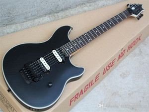 Black Electric Guitar with 2H Pickups,Rosewood Fretboard,Floyd Rose,Binding Body,Black Hardwares,offer customized