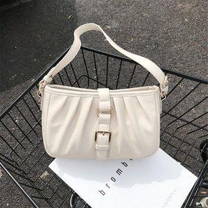 LONOOLISA 2020 Folds Borse One-spalla di nuovo modo per Lock borse unico disegno della cinghia frizione borse di marca borse in pelle PU