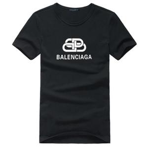 Freies Verschiffen neue Art und Weise Verkauf Kleidung Männer gut besser Cotton Polo Shirt T-Shirt Männer Mode-Rundkragen T-Shirt Balenciaga Druck