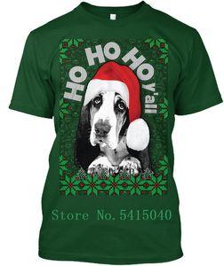 Basset-Hound-Ugly-Christmas-Sweater - Ho Hi Y&Apos;All Premium Tee T-Shirt Personalized T Shirt Harajuku T-Shirt Hipster O-Neck
