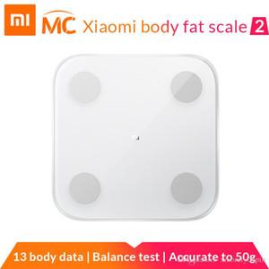 Scale (Presale) New chegada Xiaomi Mi inteligente gordura corporal 2 Com Composição Mifit APP corpo monitor com LED escondido exibição Fat Scale