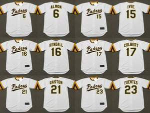 Сан - Диего 6 Билл Алмон 15 МАЙК Ivie 16 Фред Кендалл 17 Нейт Колберт 21 ЦИТО ГАСТОН 23 ТИТО FUENTES бейсбол Джерси