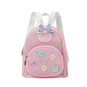 NEW infant toddler baby girl backpack cute bow waterproof PVC sequin mini backpack school bag