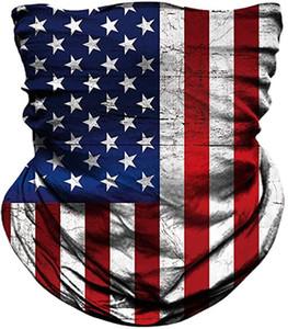 Tump Amerikan Bayrağı Magic Eşarp 3D Baskı Dijital Çok Fonksiyonlu Sihirli Şapkalar Turban Moda Binme Yaka Koruyucu DHB1494 Maske