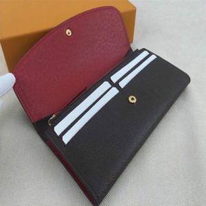 Сумка женские кошельки кожаные сцепления сумка для муфты 9 цветов одиночной молнии вверх поке для женщин дамы винтаж длинный держатель кредитной карты с коробкой