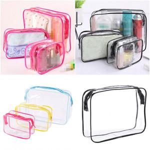 Nouveaux Transparent Make Up Organisateur de bain sacs de lavage sac de rangement Zipper Divers spécifications de couleur pratique Imperméabilisants 1 7yk D2