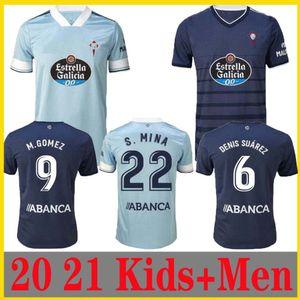 nouveau 20 21 RC Celta de Vigo Soccer Jersey Lobotka Iago Aspas Santl MINA Football Shirt SISTO BOUFAL Espagne 2020 21 VIGO homme + CELTA enfants