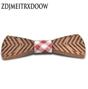 Vision Wood Bow Ties for Mens Wedding Suits Wooden Bow Tie Butterfly Shape Bowknots Gravatas Slim Cravat Gravatas Para Homens