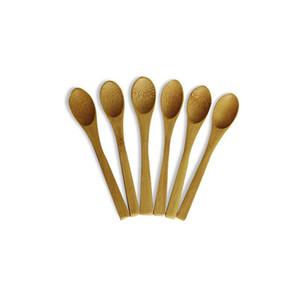 13.5*2.3 cm Long handle Wooden Spoon Jam Coffee Baby Honey Bamboo Spoon Mini Kitchen Stir Seasoning Tool Kitchen Tool In Free