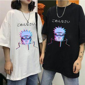 Homens Camisetas Unisex Naruto Dor Madara Arrefecer camiseta manga curta Anime japonês engraçado Impresso Harajuku Streetwear Camiseta