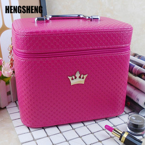High Quality Cosmetic Bag Women Noble Crown Large Capacity Professional Makeup Organizer Portable Brush Storage Case ZF9531 CX200711
