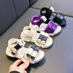 Breathable kids' 2020 new and sandals fashion soft bottom girls' sandals anti-skid Boys' single shoes for primary school students