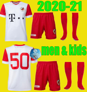 Hombres niños 20 21 FC Utrecht Soccer Jerseys Kit Home 50-Years 2020 2021 Hoogma Maillot Janssen Darío Dumic Footbll Shirts Child Set Uniforms
