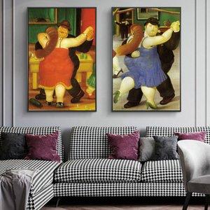 Salon Home Decor (No Frame) İçin Resim Boyama Dansçılar tarafından Fernando Botero Ünlü Sanat Tuval Yağlıboya