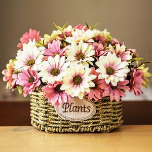 10 Heads European Floral Artificial Daisy Silk Flower Bridal Bouquet For Wedding Decoration Cheap Fake Daisy Flowers