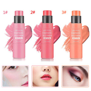 MAYCHEER 3 Colors Double End Cream Blush Stick Waterproof blush contour Blending Brush Long Lasting Peach Make up TSLM1