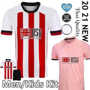 20 21 شيفيلد لكرة القدم الفانيلة بيرج MOUSSET المتحدة كيت 2020 2021 McBURNIE LUNDSTRAM FLECK الرجال الاطفال قميص كرة القدم NORWOOD SHARP زي
