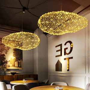 Moderne LED Firefly Pendelleuchte Gold-Wolke Pendelleuchte für Parlor Study Coffee-Shop Startseite Beleuchtung PA0146