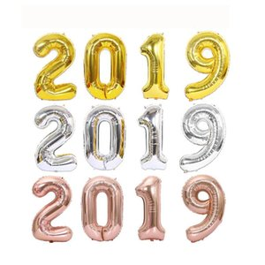 Party 40inch Painting By Number Decorations Balloons Happy New Year's Eve Parties Digital Helium Wedding Decor 8 Color 4pcs=1 Set
