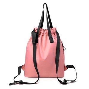 Fashion Men Women Cinch Sack Canvas Storage Backpack Unisex Casual School Gym Drawstring Shoulder Bag Pack Rucksack Pouch#YL5