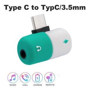 2 in1 USB di tipo C per jack audio da 3.5mm per cuffie Cavo ricarica adattatore USB-C Converter per Xiaomi Huawei