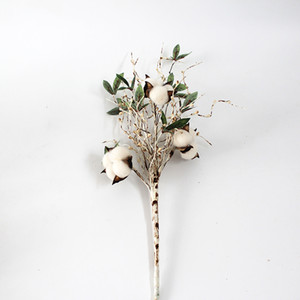 Birch Branch Tree with Cotton Bolls Decoration Artificial Floral Home Decor Pip Berries Tree Branch Greenery Artificial Plants