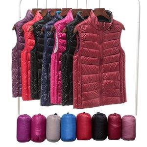 2020 New Women Sleeveless Women's Ultra Light Down Vests Slim Jacket Girl Gilet Plus Lightweight Windproof Warm Waistcoat