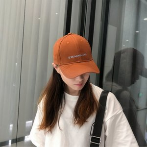 Hat female Korean style Sunscreen baseball all-match simple letter embroidery baseball cap outdoor sunscreen hat cap cap