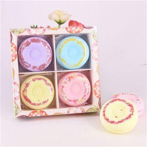 Doughnut Design Bath Salt Ball Colorful Natural Bubble Bath Salts Handmade Birthday Spa Wedding Gift New Product 26yl H1