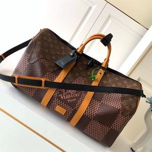 Новая дорожная сумка 7А лидирующего отдых классический стиля ткань с деревом мальчика деревом кожи, случайной и прекрасным стилем пусть люди любят не хотят жить